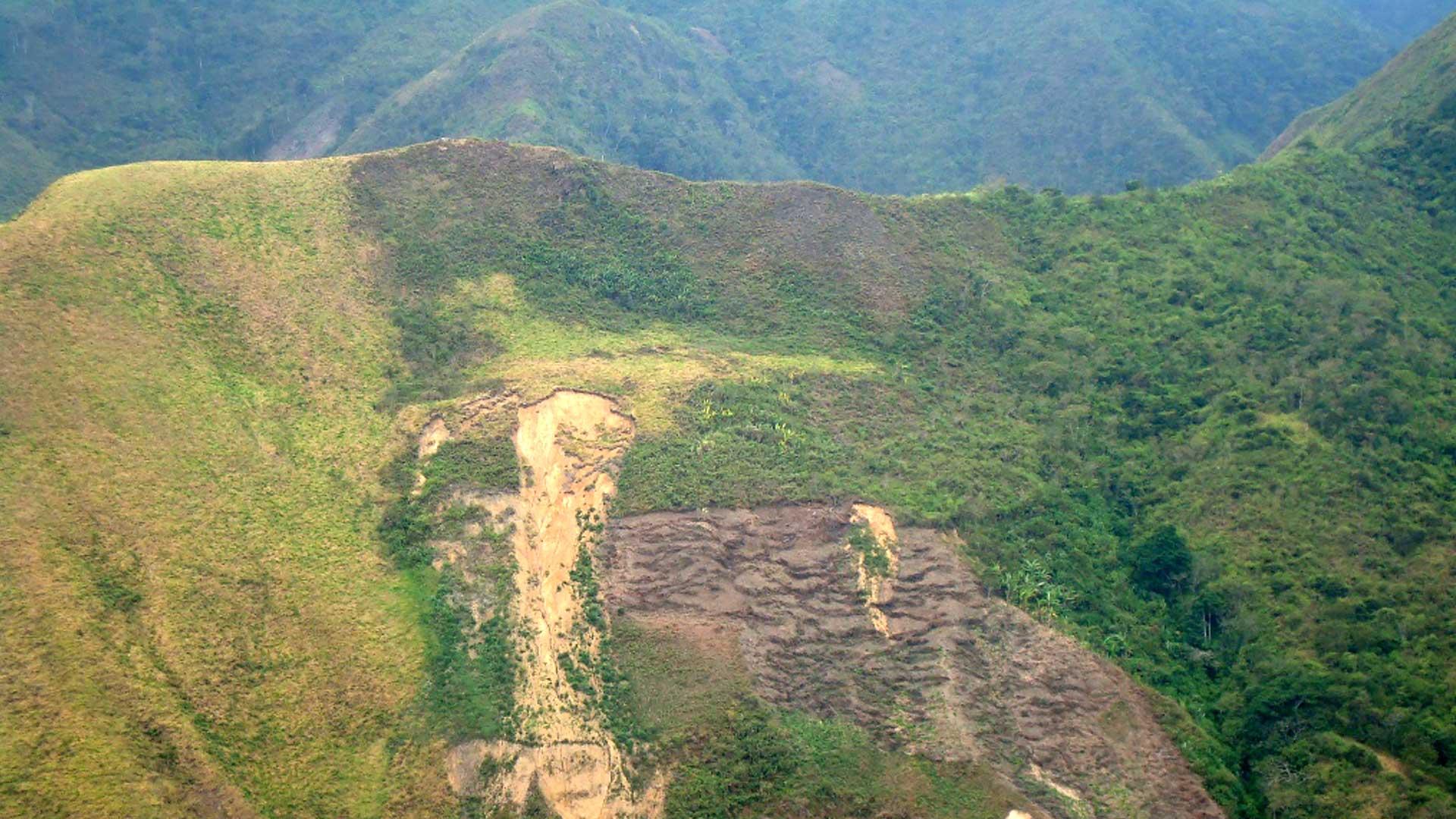pendientes fuertes son una invitación a la erosión